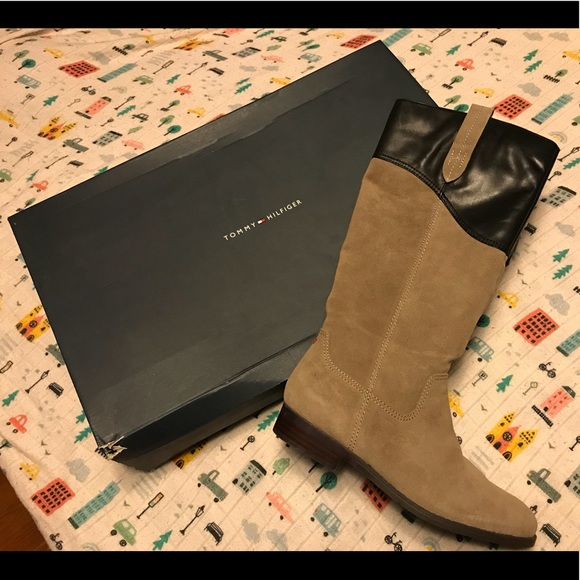 cd9117e20 Tommy Hilfiger taupe Boots